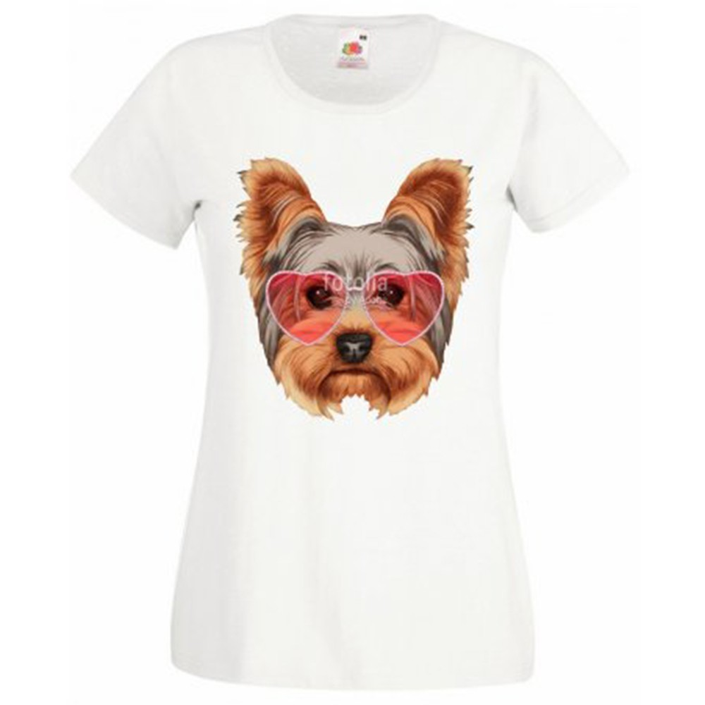 T-shirt blanc fille - Yorkshire