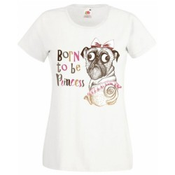 T-shirt blanc fille - Born to be princess