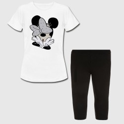 Ensemble fille - minnie étonné - Tshirt + legging court