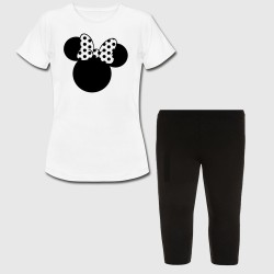 Ensemble fille - Minnie noeud - Tshirt + legging court