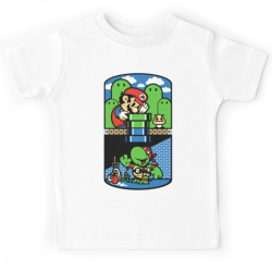 T-shirt garçon - Mario bross jeux video