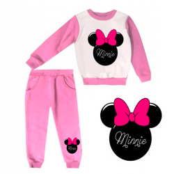 JOGGING FILLE SWEAT & PANTALON - IMPRIMÉ MINNIE COQUETTE - ROSE - 1 à 4 ans -