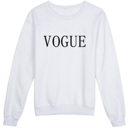 SweatS-shirt femme col rond - imprimé Vogue