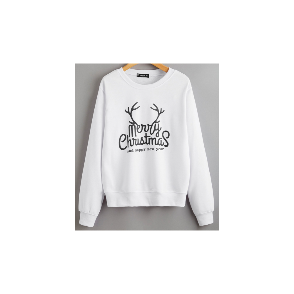 Sweat-shirt pour adultes et enfants - Imprimé Merry Christmas