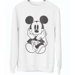 Sweat-Shirt blanc adultes & enfants - Mickey