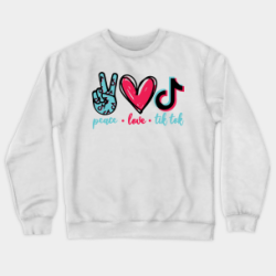 Sweat-Shirt adultes et enfants - Peace Love Tiktok